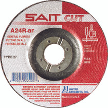 UAI Cutoff Wheel 4x1/8x3/8 TY27 Metal  - 22010