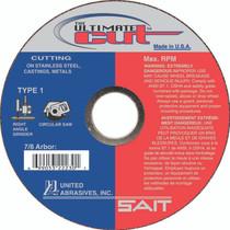 UAI Cutoff Wheel 4-1/2x.045x7x8 TY1 Ultimate Cut - 22230
