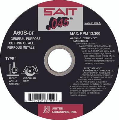UAI Cutoff Wheel 6x.045x7/8 TY1 GP Metal - 23106