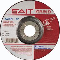 UAI Grinding Wheel 4-1/2x1/4x7/8 TY27 Metal  - 20060