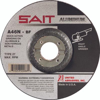 UAI Grinding Wheel 4-1/2x1/4x7/8 A46N TY27 Aluminum - 20062