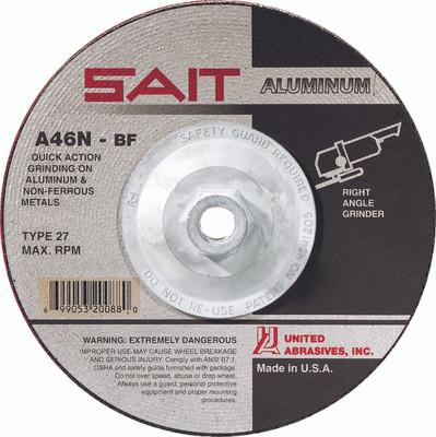 UAI Grinding Wheel 4-1/2x1/4x5/8-11 A46N TY27 Aluminum - 20162