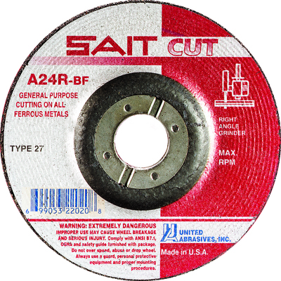 UAI Cutting Wheel 4-1/2x3/32x7/8 TY27 Metal  - 22020