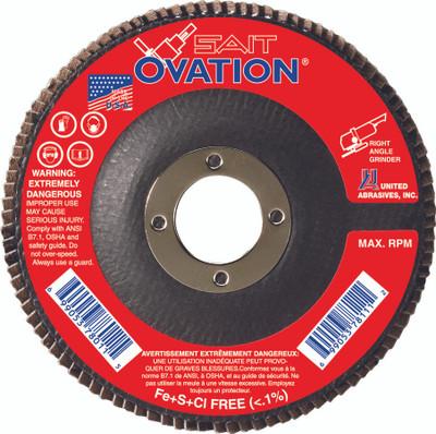 UAI Flap Disc 4-1/2x7/8 60GR TY27 High Density Ovation  - 78008