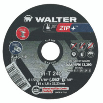 Walter Cutoff Wheel 4-1/2x1/16x7/8 TY 1 Zip+™ - 11T242