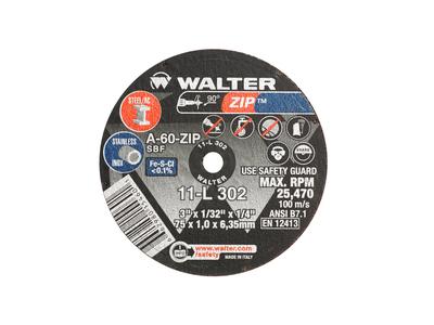 Walter Cutoff Wheel 3x1/32x1/4 TY 1 Zip™ -  11L302