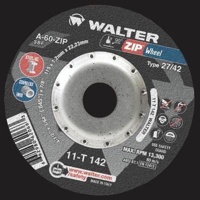 Walter Cutoff Wheel 4-1/2x3/64x7/8 X TY 1 Zip™ Wheel -  11T142