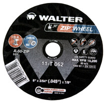 Walter Cutoff Wheel 6x3/64x7/8 TY 1 Zip™ Wheel -  11T062