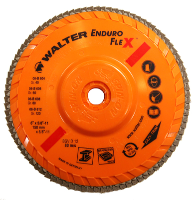 Walter Flap Disc 6x5/8-11 40 Grit Enduro-Flex™ -  06B604