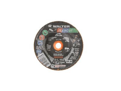 Walter Flap Disc 4-1/2 x 5/8-11 36 Grit Spin-On Flexcut  Flexcut™ -  15L453