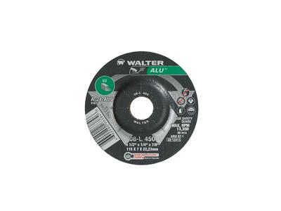 Walter Grinding Wheel 4-1/2x1/4x7/8 TY 27 Aluminum  Alu™ -  08L450