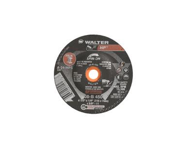 Walter Grinding Wheel 4-1/2x1/4x5/8-11 TY 27S Spinon HP™ -  08B450