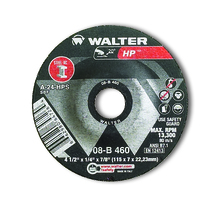 Walter Grinding Wheel 4-1/2x1/4x7/8  TY 27 HP™ -  08B460