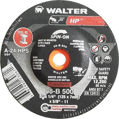 Walter Grinding Wheel 5x1/4x7/8 TY 27 HP™ -  08B505