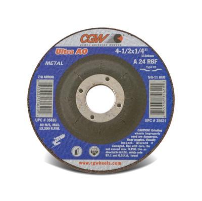 CGW Grinding Wheel 4-1/2x1/4x5/8-11 A24-R-BF Steel TY27 - 35621