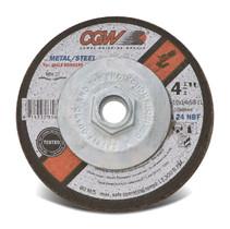 CGW Grinding Wheel 4-1/2x1/4x5/8-11 A24-N-B Steel TY27 Fast Cut - 35623