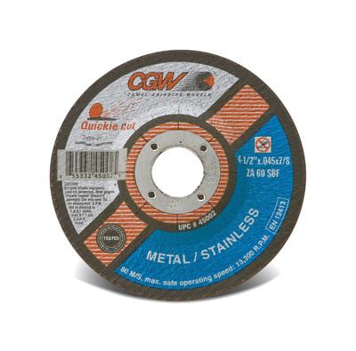 CGW Cutoff Wheel 4-1/2x.045x7/8 T27 ZA60--S-BF Quickie - 45002