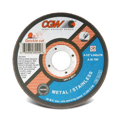 CGW Cutoff Wheel 6x.045x7/8 TY1 ZA36-T-BF Quickie  - 35517