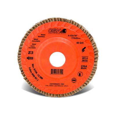 CGW Flap Disc 4-1/2x7/8 TY29 Z3 Reg 80 Grit  - 39725