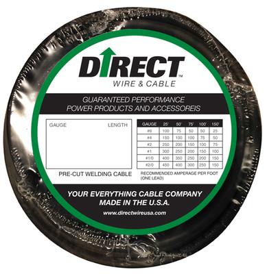 Direct Wire #1 10' Black Flex-a-Prene FP0079