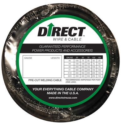 Direct Wire #1 25' Black Flex-a-Prene FP0169