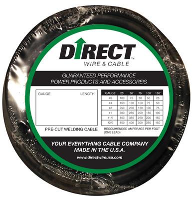 Direct Wire #1 50' Black Flex-a-Prene FP0220