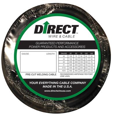 Direct Wire #2 25' Black Flex-a-Prene FP0587