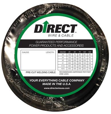 Direct Wire #2 30' Black Flex-a-Prene FP0627