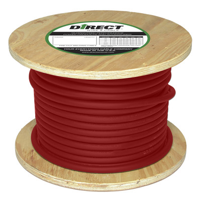 Direct Wire #2 250' Red Flex-a-Prene FP0788