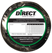 Direct Wire #4 25' Black Flex-a-Prene FP0905 (image shown is #2 gauge)