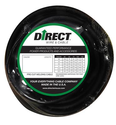 Direct Wire #4 250' Black Flex-a-Prene FP1009