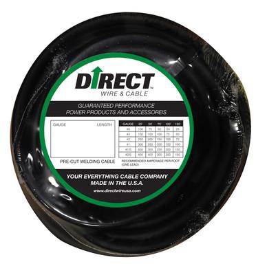Direct Wire 1/0 25' Black Flex-a-Prene FP1410