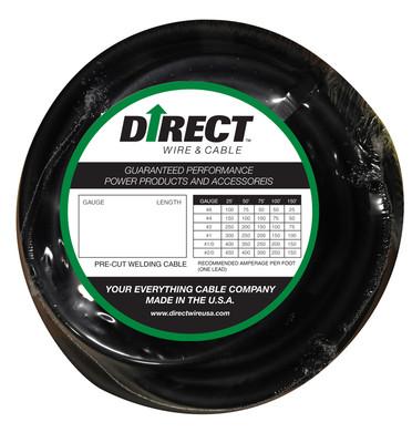 Direct Wire 1/0 50' Black Flex-a-Prene FP1502