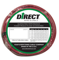 Direct Wire 1/0 50' Red Flex-a-Prene FP1547