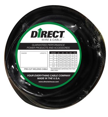 Direct Wire 1/0 100' Black Flex-a-Prene FP1637