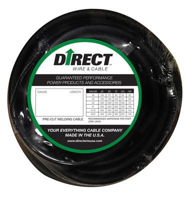Direct Wire 2/0 25' Black Flex-a-Prene FP2027