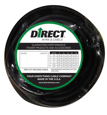 Direct Wire 2/0 50' Black Flex-a-Prene FP2125