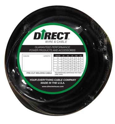 Direct Wire 3/0 25' Black Flex-a-Prene FP2440