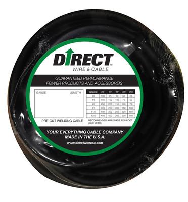 Direct Wire 3/0 75' Black Flex-a-Prene FP2493
