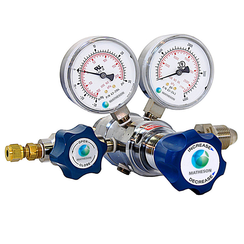 US Dual Scale Gauge Argon Pressure Reducer Kit For Reduce//Control The Pressure
