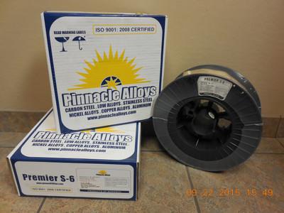 "Pinnacle Alloys PREMIER S-6 (ER70S-6) .035"" x 44# MIG 03570S6M44"