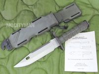 Phrobis M9A1 - Rare 1st Generation Trials Bayonet with Scabbard and Manual - Green - USA Made (13562)