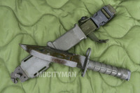 Lan-Cay M9 Bayonet with Scabbard - 1995 Model - Genuine Military - USA Made (15091)