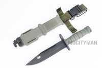 "Ontario M-9 ""Combat"" Commercial Bayonet with Scabbard - 2005 Model - Nice - USA Made (15390)"