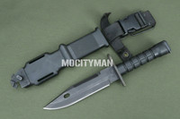 Ontario M-9 Black Commercial Bayonet with Scabbard - Early Model - USA Made (22006)