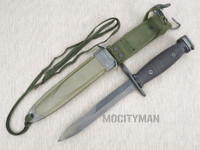 Conetta M7 Bayonet with M8A1 PWH Scabbard - Genuine Military - USA Made (25017)