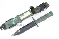 Ontario M9 Bayonet with Scabbard - Used - Genuine Military - USA Made  (23106)
