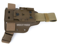 Safariland 6004-10 Coyote Single Strap Leg Shroud and QLS-22 for USMC M45A1 Holster -  USA Made (27589)