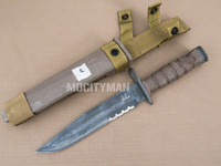 Ontario USMC OKC-3S Bayonet with Scabbard - Genuine Military - USA Made (28934)