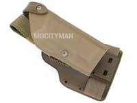 Safariland 6004SS-56 Holster and Shroud With Quick Release For Military Colt USMC MARSOC M45A1 CQCP Pistol No Light - Coyote - Right Hand - New 2015 - USA Made (29303)